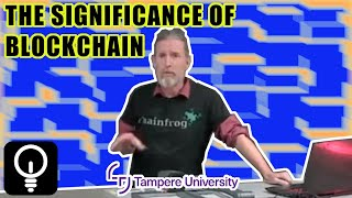 Lecture on blockchain for the Emerging Technology Adoption and Use course at Tampere University