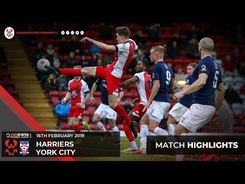 Match Highlights: Harriers 1-2 York City 16/02/19
