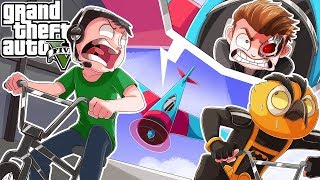 NOBODY WILL SURVIVE! (PLANES VS BICYCLES CUSTOM GAME MODE) - GTA 5 Online Funny Moments