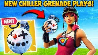 *NEW* CHILLER GRENADE IS INSANE! - Fortnite Funny Fails and WTF Moments! #454