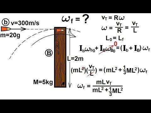 Physics - Mechanics: Angular Momentum (7 of 11) Ex. 6: Bullet Striking Beam