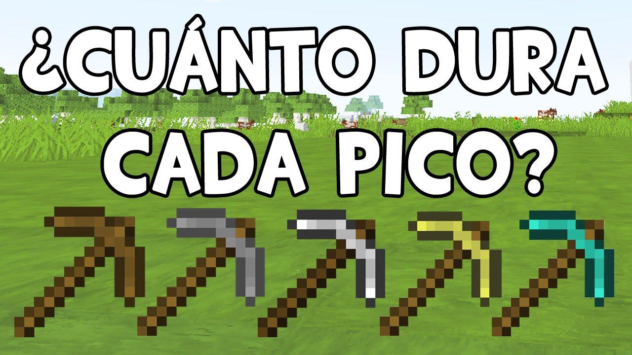 Cu nto dura un pico craftear picos curiosidades de for Blancana y mirote minecraft