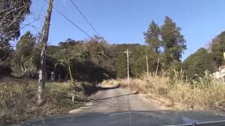 20150103【車載カメラ】千葉県道258号富山丸山線(脇道+増間林道)