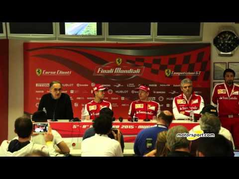 La conferenza stampa Ferrari F1   Finali Mondiali 2015