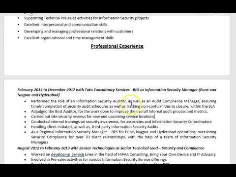 CV That Works Free CV Review Video