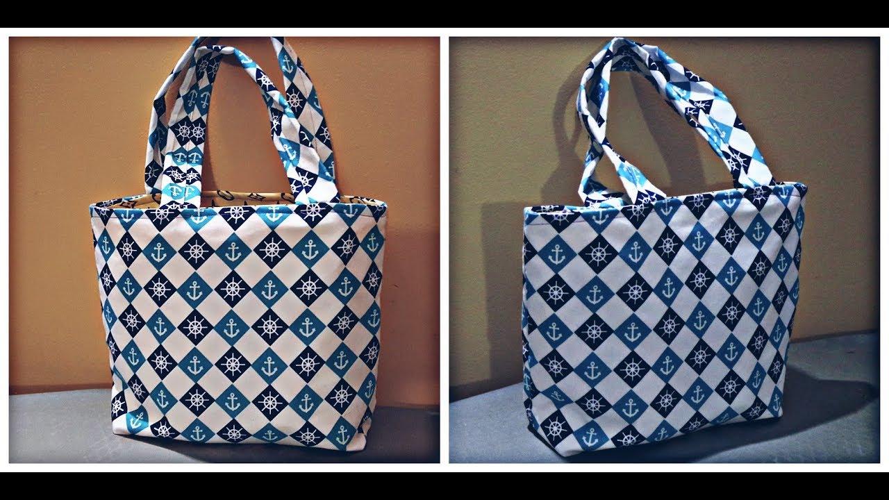 diy TAS1 cara membuat tas kain cantik dan simple - YouTube