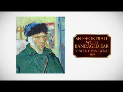 How to paint Self-Portrait With Bandaged Ear - Vincent Van Gogh