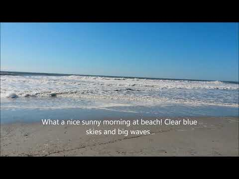 Atlantic City Beach - New Jersey | Part 1 | Blue Skies, Rough Sea, Big Waves