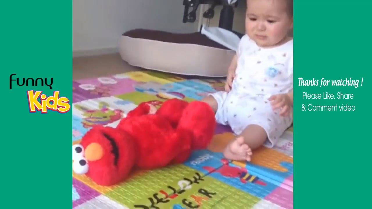 Baby Scared of Toys Compilation    Funny Shocking Reaction