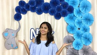 VERY Easy Birthday decoration  | Mini Elephant Theme party decoration ideas at home