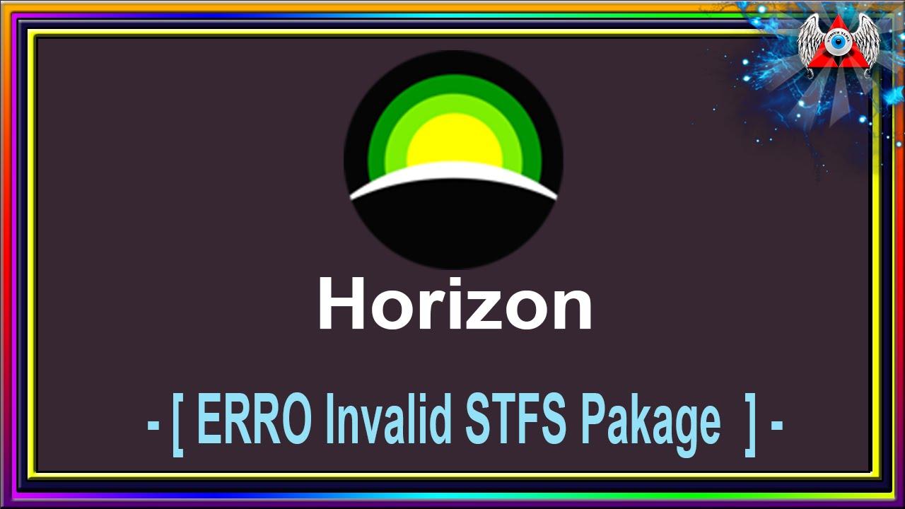 [360] • Horizon - ERRO Invalid STFS Pakage - Problema ao passar arquivos
