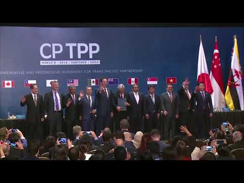 MOMENT: CPTPP is officially signed in Santiago, Chile