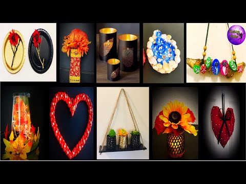 10 Easy room decor | waste material craft ideas  | art craft | Fashion pixies