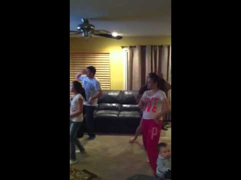 Dance off with fam