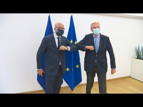Brexit: Michel Barnier meets European Council President Charles Michel | AFP