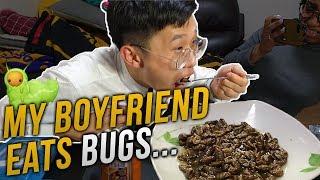 We Tried Silkworm Pupae(번데기) Challenge....