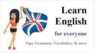 Learn English ☆ Basic Helping Verbs