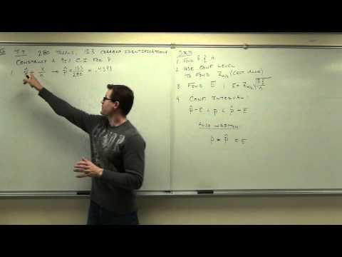 Statistics Lecture 7.2: Finding Confidence Intervals for the Population Proportion