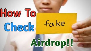 How to check FAKE Airdrop! Fake TSFk 15000 Airdrop