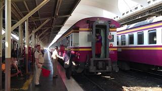 【タイ】 バンコク・フワランポーン駅(クルンテープ駅) 駆け込み乗車と待ってあげる親切さ Bangkok Railway Station กรุงเทพฯ (2017.3)