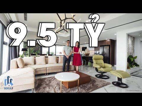 """NGỠ NGÀNG """"Biệt Thự Trên Không"""" với Thang Máy Riêng rộng 210m2 tại Ecopark - NhaF [4K]"""