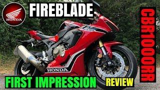 NEW HONDA FIREBLADE   REVIEW   CBR1000RR   First impression