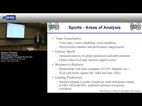Sports Analytics:  The good, the bad, the....