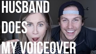 HUSBAND DOES MY VOICE OVER *HILARIOUS*! | GET READY WITH ME | Shawn Johnson