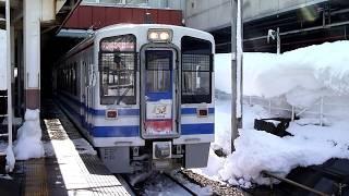 北越急行ほくほく線 HK100形更新車&未更新車 越後湯沢駅 出線