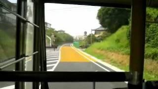 茨城空港連絡バス・かしてつバス上り前面展望 バスすれ違いシーン2