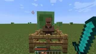 как сделать яйцо жителя в minecraft