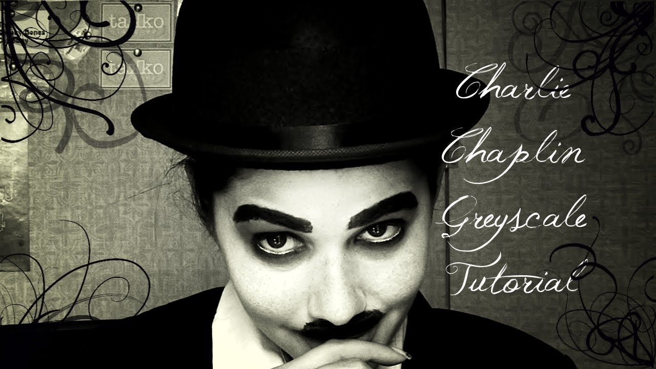 Halloween 2013: Charlie Chaplin Greyscale Makeup Tutorial ...