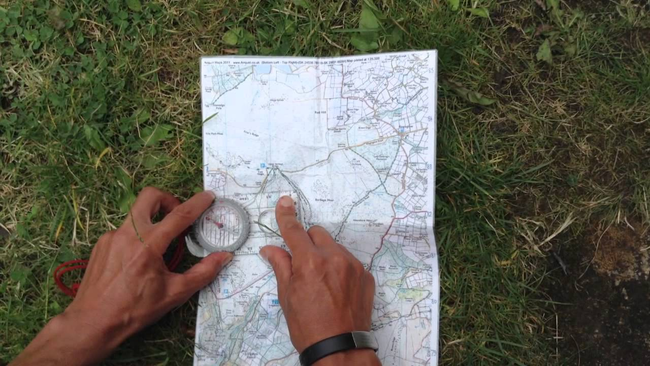 Trail Running mag - idiot's guide to using a compass - YouTube