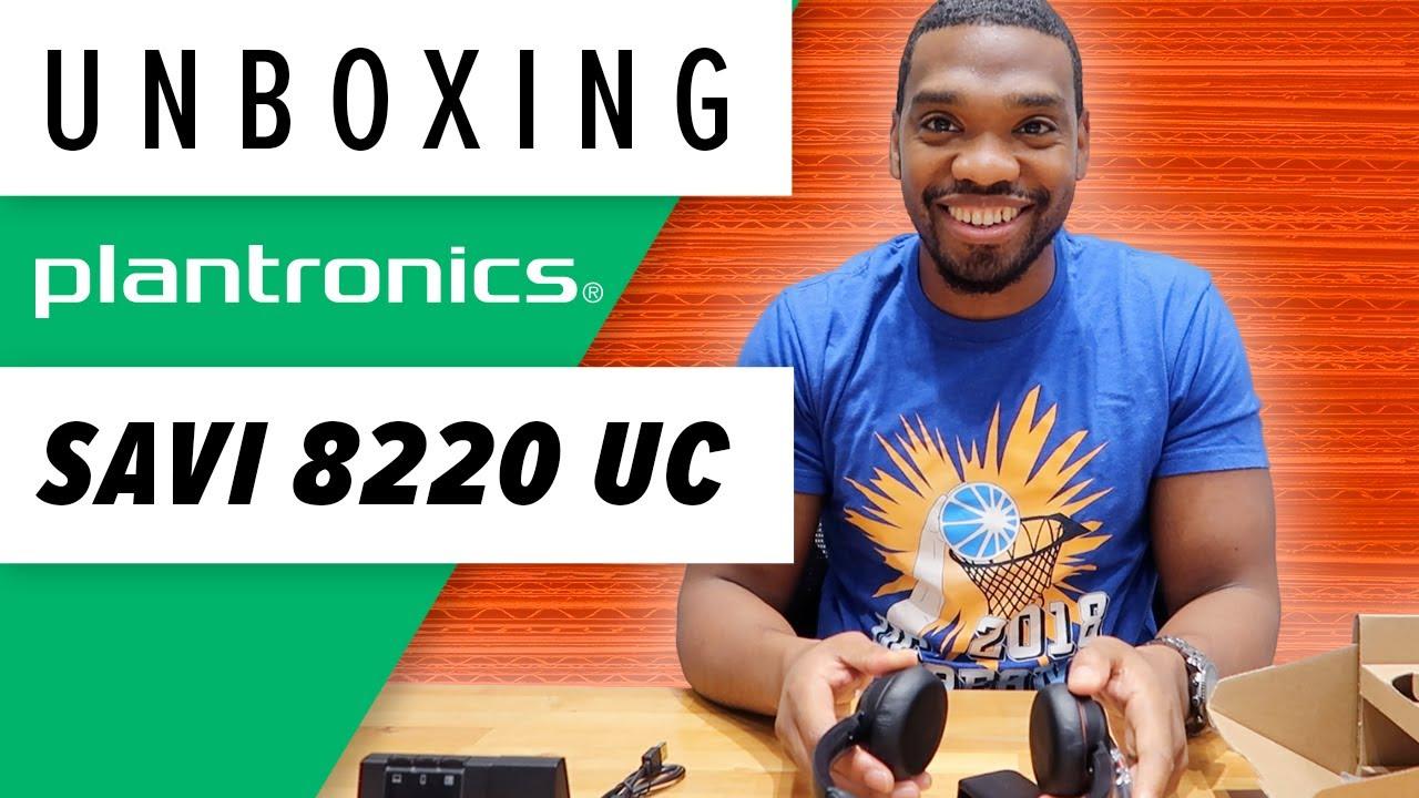 216ed1ed55a Plantronics Savi 8220 UC Headset Unboxing - YouTube