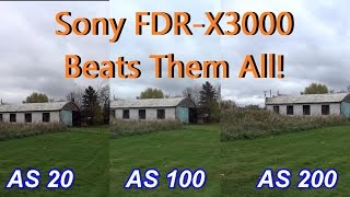 Sony Action CAM FDR-X3000 vs AS20 AS100 AS200