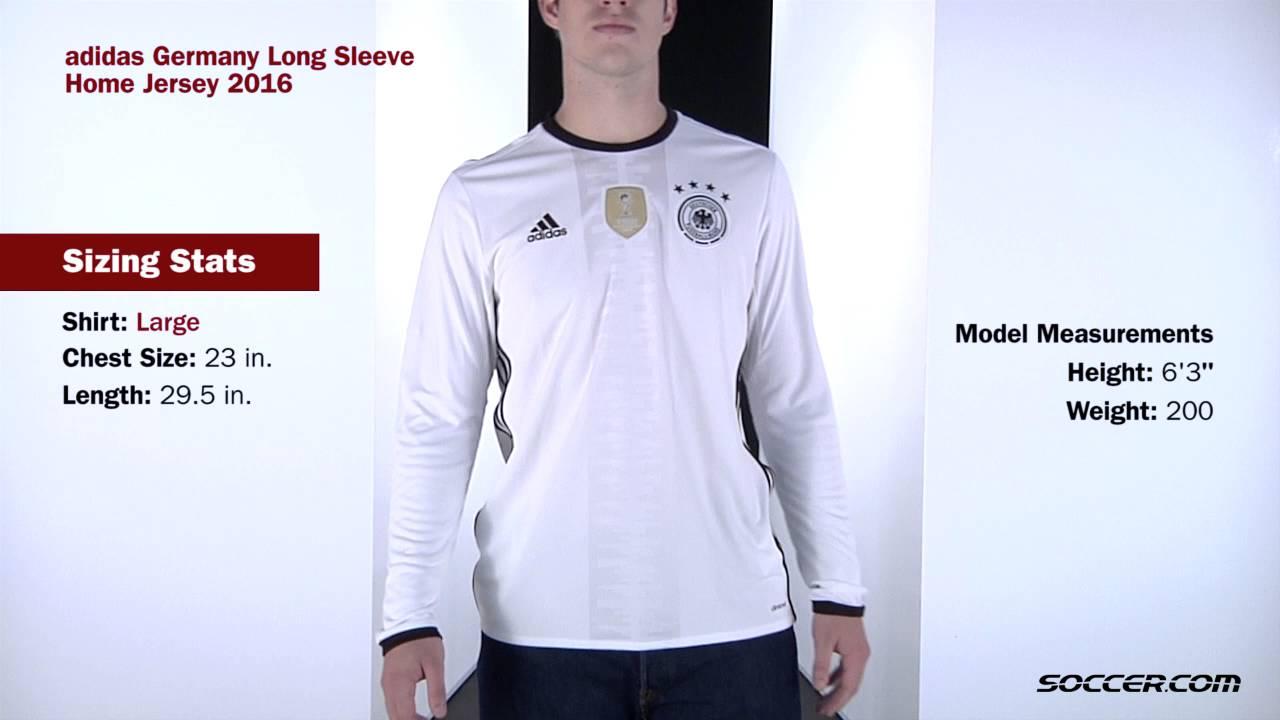 adidas Germany Long Sleeve Home Jersey 2016