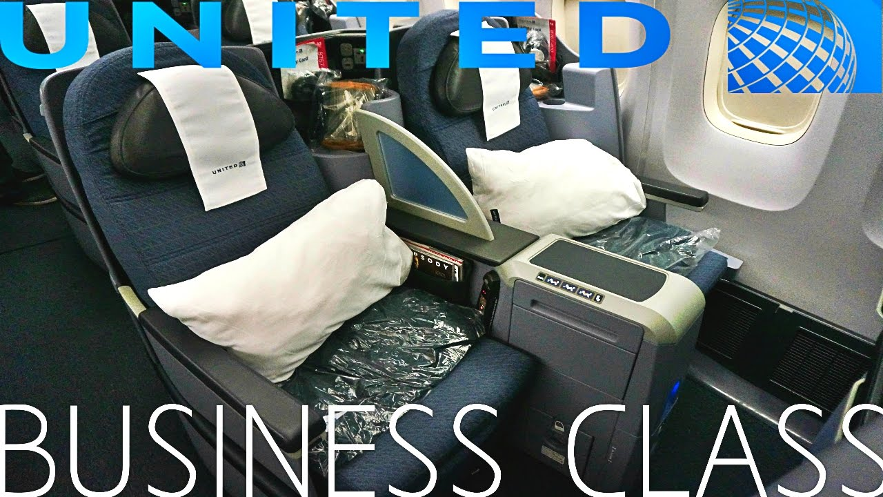 United Airlines BUSINESS CLASS New York To London