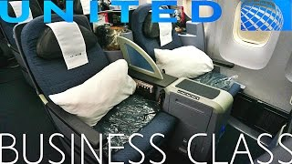 United Airlines BUSINESS CLASS New York to London|Boeing 767-400ER