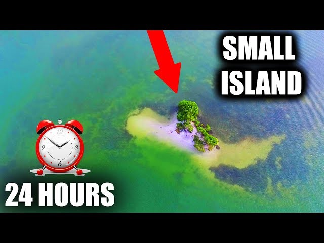 24 HOURS STRANDED ON A SMALL ISLAND!!! (Overnight Challenge)