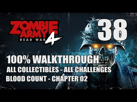 "ZOMBIE ARMY 4: DEAD WAR - 100% Walkthrough 38 - Blood Count Chapter 2 ""Keep of Death"" 