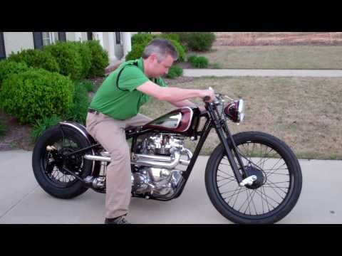 """Kustom 1969 Triumph Bobber """"Black Adder"""", built by Dan Patterson of  Angry Monkey Motorcycles"""