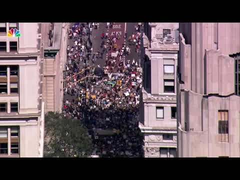 What NYC's Climate Strike March Looks Like From Above | NBC New York