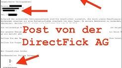 SpamInfo: #1 : Mail von der DirectPay AG WTF woher haben die meine Adresse !!