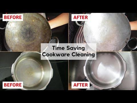 Iron और Stainless Steel के बर्तनो को कैसे साफ़ करें की उनकी चमक लम्बे समय तक बरक़रार रहे | Urban Rasoi