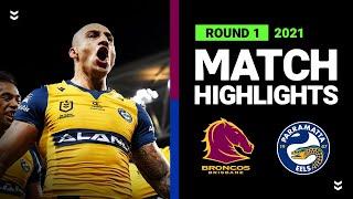 Broncos v Eels Match Highlights   Round 1 2021   Telstra Premiership   NRL