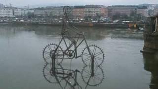 Danube bicycle , kinetic sculpture