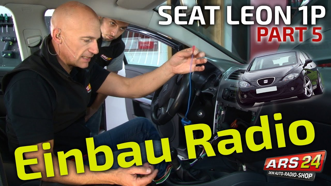 autoradio einbau tutorial im seat leon 1p part 5 youtube. Black Bedroom Furniture Sets. Home Design Ideas