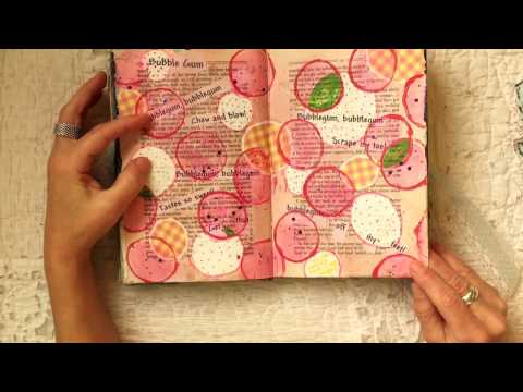 Altered Book Flip Through::Poetry Journal