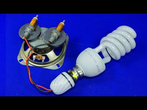 Free Electricity For Home 220V & 240V Light Bulb Electric Power NEW 2019 Science Experiment