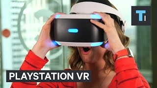 People try PlayStation VR for the first time